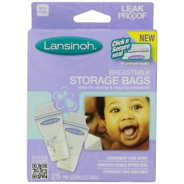 Lansinoh Breast Milk Storage Bags, 25 Count